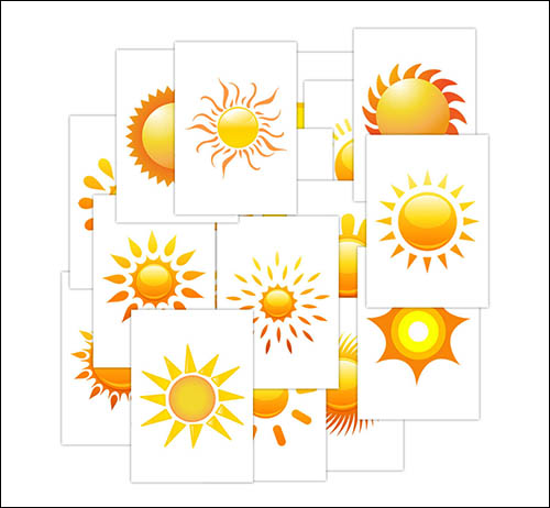 Простой рисунок солнца: скачать и распечатать
