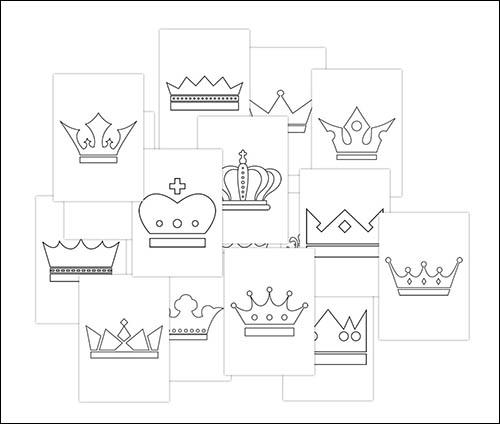 Силуэт короны: скачать и распечатать