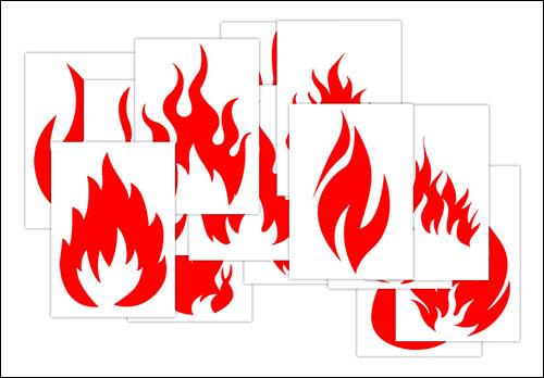 Силуэт пламени: скачать и распечатать