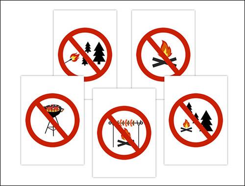 Знак не разводить костры: скачать и распечатать