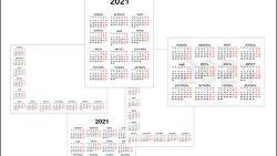 Шаблон календаря на 2021 год скачать бесплатно