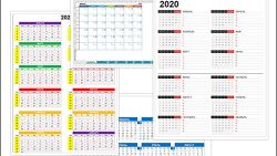 Календарь 2020 с неделями в экселе